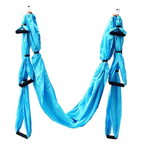 Jackys Aerial Yoga Flying Hamm Set, Swing Yoga Inverted Trainer Home Fitness Sling Adecuado para Hamacas Familiares Y Al Aire Libre, Puede Soportar 200 Kg