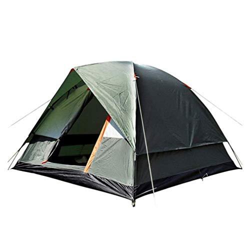 SMSOM Tienda de campaña ligera para 3-4 personas, impermeable, resistente al viento, protección UV, perfecta para la playa, al aire libre, viajes, senderismo, camping, caza, pesca, etc