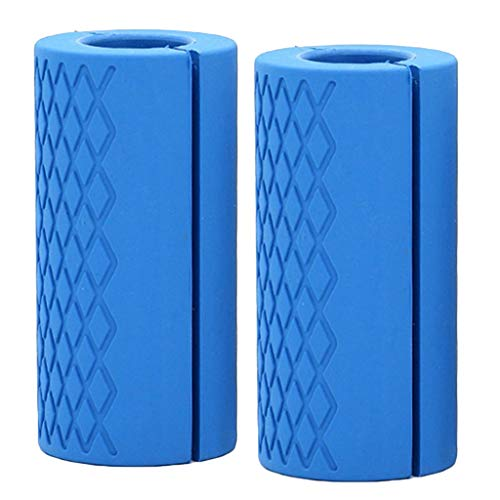 Perfeclan 2x Dumbbell Barbell Grips Wrap Bar Muscle Builder Weight Lifting Grip Hand