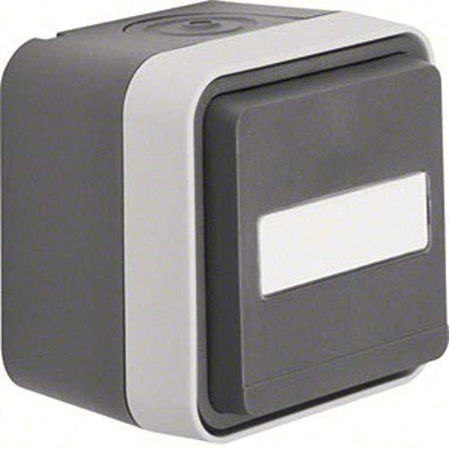Berker stopcontact met klapdeksel opbouw W.1 grijs, lichtgrijs 47413515