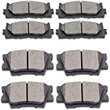 SCITOO Ceramic Front Rear Disc Brake Pad Set fit for 2013-2018 for LEXUS ES300h, 2007-2018 for LEXUS ES350, 2008-2018 for TOYOTA Avalon, 2007-2017 for TOYOTA Camry