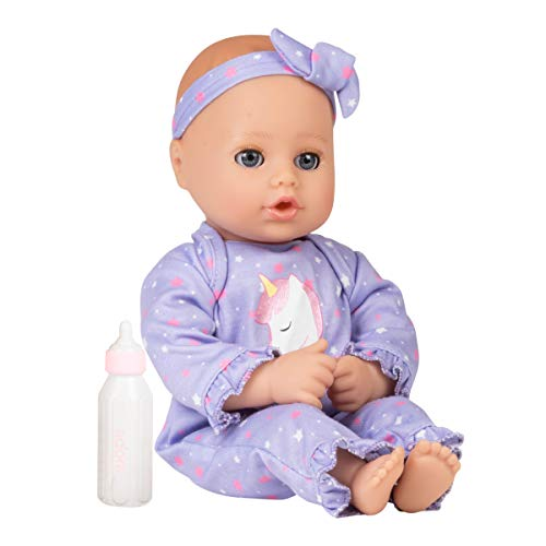 Adora Playtime Baby Doll Unicorn Glitter, 13 inch Soft Doll, Open/Close Eyes, Best Baby Girl Gift for Age 1+