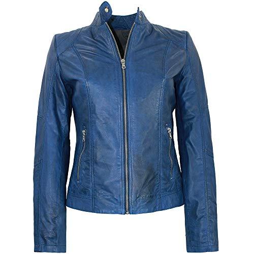 MADDOX - Damen Lederjacke Lammnappa royal-blau Größe 36