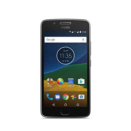 Motorola Moto G5 - Smartphone Libre de 5' Full HD, 2.800 mAh de batería, cámara de 13 MP, 3 GB de RAM + 16 GB de Almacenamiento, procesador Snapdragon de 1.4 GHz, Color Gris