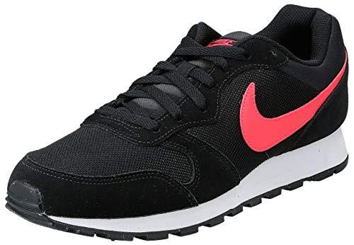 Nike MD Runner 2, Zapatillas de Running Hombre, Multicolor (Black/Red Orbit 008), 44 EU