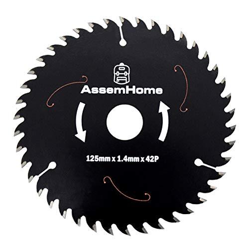 5' 42 Teeth Carbide Tip Circular Saw Blades Radial Arm Saw Blade Table Saw Blade Miter Saw Blades with 4/5' Arbor for Woodworking