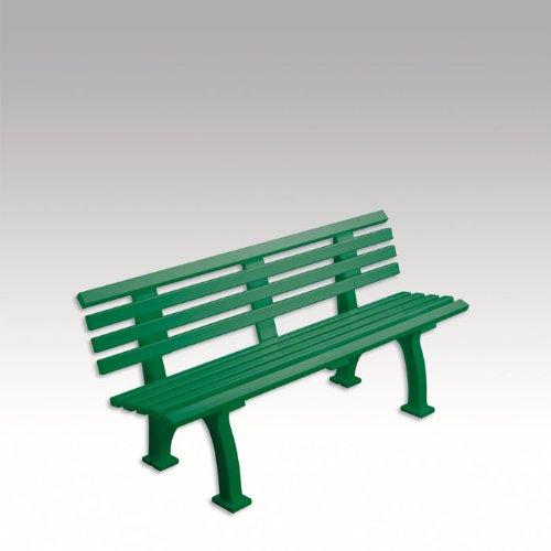 Gartenbank, Parkbank, Bank aus Kunststoff, grün, 150 cm