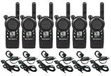 6 Pack of Motorola CLS1410 Walkie Talkie Radios with Headsets, Black