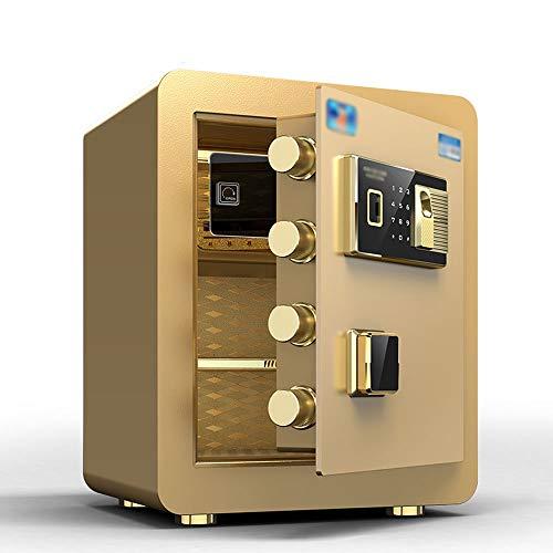 RKY Sicherheitsschrank, alle Stahl-Anti-Diebstahl-Hause kleinen Fingerabdruck-Passwort-Anti-Klonen-Single-Door-Safe, geeignet für: Büro/Zuhause/Finanzen, 3 Farben optional Schranksafes / - /