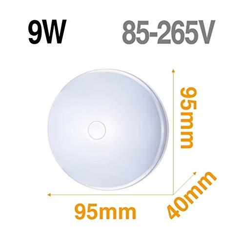 Lámpara de techo LED Panel de luz LED 48W 36W 24W 18W 13W 9W 6W abajo luz Montado en Superficie moderna lámpara de iluminación for el hogar Decoración (Body Color : Model A 9W)
