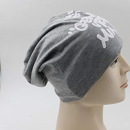 Bonnet Unisexe Chapeau tricoté Homme Beanie Hats,Chapeau de Femme pour Homme tricoté Lettre Casquette Bonnet Hiver Fille Automne chaudUnisex Bonnet Touca @ Gris