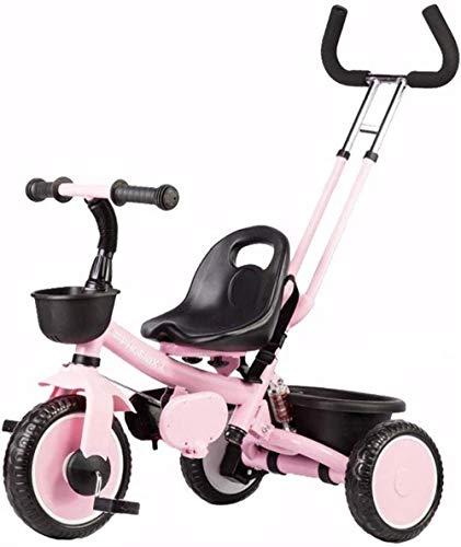 De los niños del Caballo de oscilación Trikes Triciclo 2 en 1 Triciclo triciclos del niño del niño de Bicicletas Retro-Crecer con la Cabeza de Altura Ajustable de Empuje Ride Caja de Almacenam