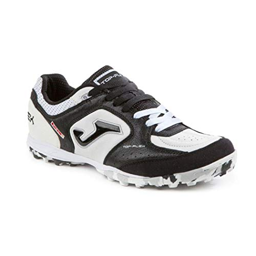 Joma Top Flex 702 White Black Turf - Scarpe Calcetto - Futsal Shoes - TOPW.702.TF (43)