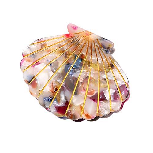 Haarspange für Damen, Acetat, Muschel, Haarspange, modische Haarspange, Zubehör für halbe Hochsteckfrisuren (bunt)
