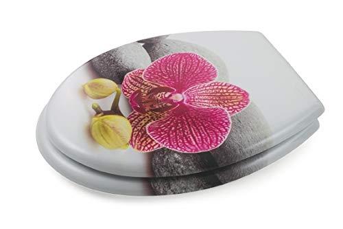 Galileo Casa 2191603 WC-Sitz Decoro Orchidee, mehrfarbig