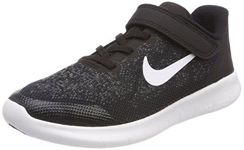 Nike Jungen Free RN 2017 (Psv) Laufschuhe, Schwarz (Black/white/dark Grey/anthraci 002), 35 EU