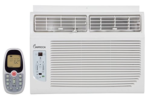 Impecca 10000-BTU Window Air-Conditioner, Whisper Quiet Operation, Electronic Controlled, with Remote,115-Volt, IWA10KR15