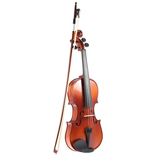 Ammoon 4/4 Madera Maciza Violín Antiguo Violín Acabado Mate Picea Junta la Cara con la Caja Dura del Arco de Colofonia