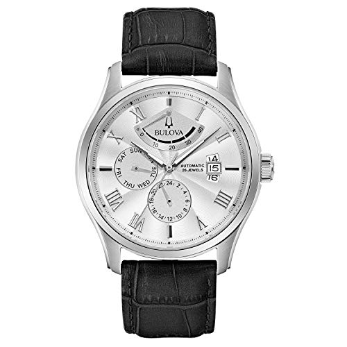 Relógio masculino Bulova, Pulseira branca/preta