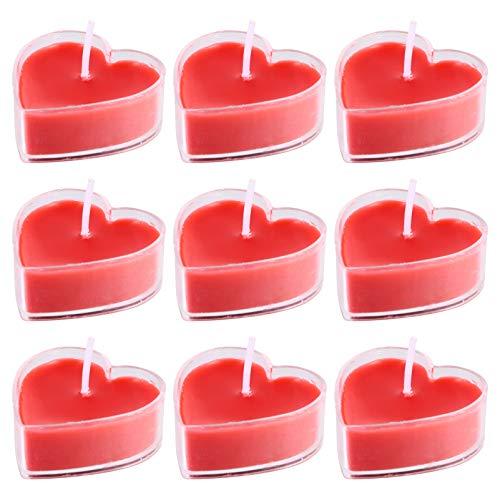 BESPORTBLE 9 Stücke Duftkerze Herz Kerzen Teelicht Sojawachs Aroma Kerzen Sojakerzen Romantische Teelichter für Valentinstag Dekoration Geschenk Hochzeit Deko Tischdeko Yoga SPA SM Massage
