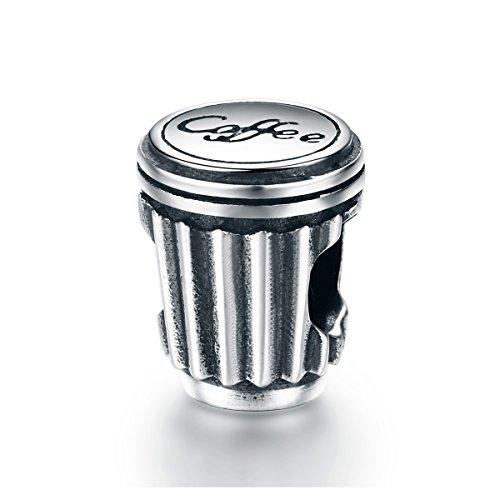 YOUFENG Jewellery Kaffee Tasse Charm Bead Fashion Charms Passform Schlange Kette Armband Frauen Schmuck Geburtstag Geschenke