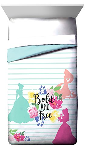 Disney Princess Garden 'Bold and Free' Twin/Full Reversible Comforter with Cinderella, Belle & Rapunzel