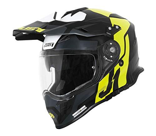 Just1 J34 Pro Tour Casco motocross Nero opaco/Fluo S (55/56)