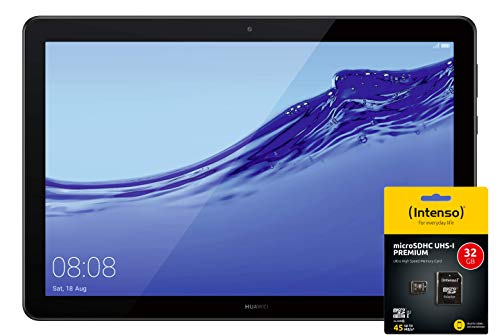 Huawei Media Pad T5 Tablet 25,7 cm (10,1 Zoll) Full HD (Android 8.0, EMUI 8.0, 16GB) Schwarz LTE RAM DE 2 GB Schwarz + Intenso Micro SDHC 32GB Speicherkarte