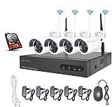 Aottom 8CH 1080P WiFi NVR Kit Système de Surveillance sans Fil avec 1TB HDD, Système de...