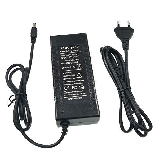 N/C YYHQQBAD Chargeur de Batterie 36V 2A Sortie 42V 2A Li-ION Li-ION Chargeur de Batterie pour vélo électrique vélo électrique série 10 36V DC5.5 * 2.1MM