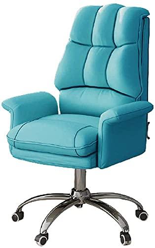 Silla de oficina de oficina de oficina Silla de escritorio de oficina, silla de computadora, silla de oficina doméstica, silla de elevación trasera, dormitorio eléctrico sofá asiento-amarillo - con pe