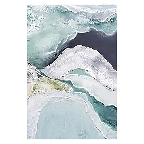 JXMK Acuarela Verde Oscuro Pintura al óleo Abstracta Textura lámpara de Sala de Estar Abstracta Pintura Decorativa de Lujo núcleo de Pintura 40x50 cm sin Marco