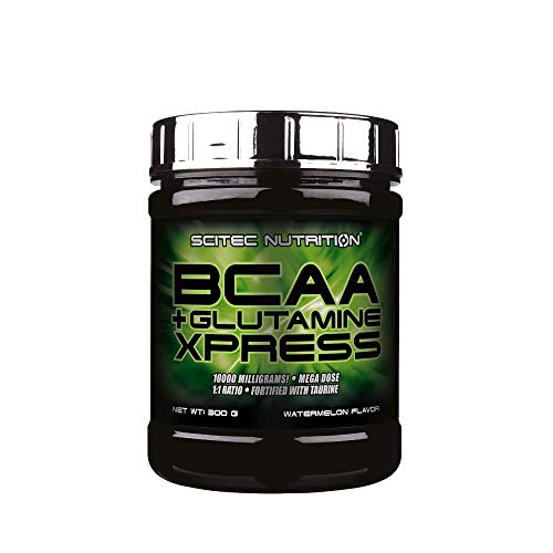 Scitec Nutrition BCAA + Glutamine Xpress, Fortified with Taurine, Sugar Free, 300 g, Watermelon