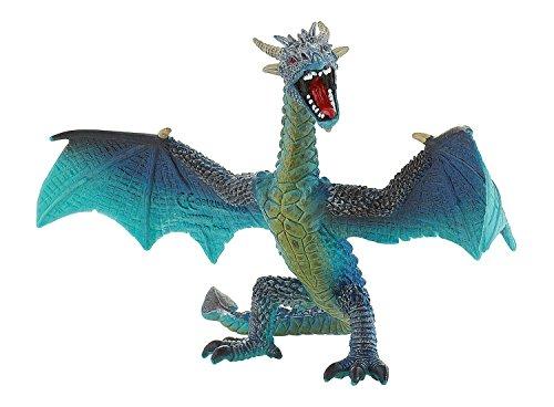 Bullyland 75592 - Spielfigur, Drache fliegend türkis, ca. 17,8 cm