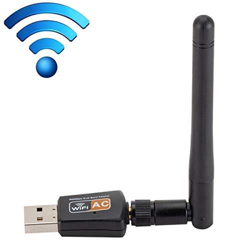 ILS – Adaptador WiFi USB Dual Band 600 Mbps 2,4 GHz + 5 Hz AC con antena