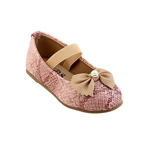 CHIU Unisex Kid's Pink Boat Shoes-2.5 UK (19 EU) (CHIU-03-Snakes-pink-23)