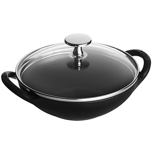 STAUB Cast Iron 1311723 Baby Wok, schwarz, Gusseisen, matte black