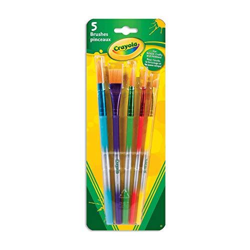 Crayola 5 Assorted Premium Paint Brushes