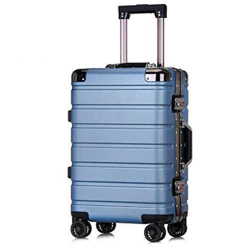 NgMik Telescopic suitcase 20/24 Inch Boarding Luggage Aluminum Frame Trolley Case Universal Wheel Suitcase with Combination Lock Lightweight suitcase (Color : C4, Size : 24inch)