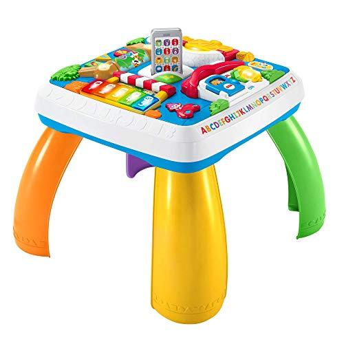 Fisher-Price HBB67 - Lernspaß Spieltisch, Musik-Spieltisch, deutsche Sprachversion, für Babys und Kleinkinder