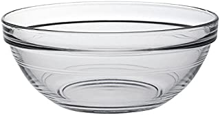 Duralex Lys Stackable Clear Bowls 1 Quarts Set of 6