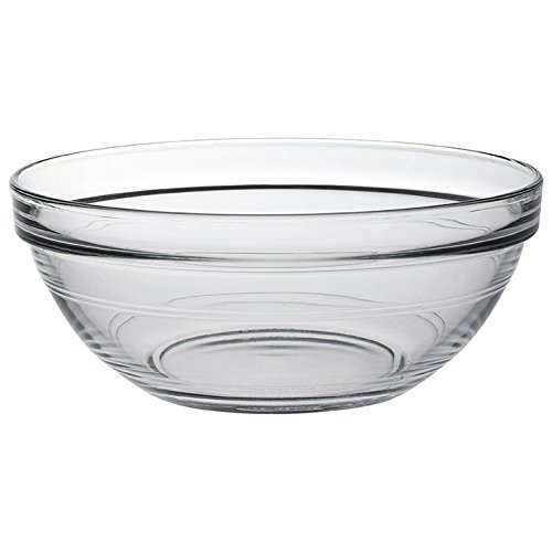 Duralex Lys Stackable Clear Bowls 1 Quarts Set of 6