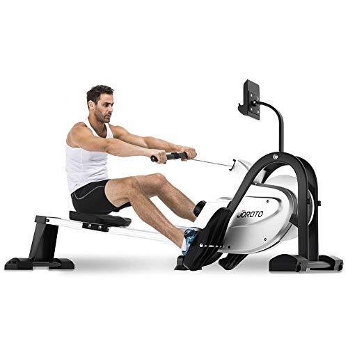 JOROTO Magnetic Rower Rowing Machine with LCD Display 300LB Weight Capacity Row Machine Exercise Rower for Home Gym (MR35) (Renewed)