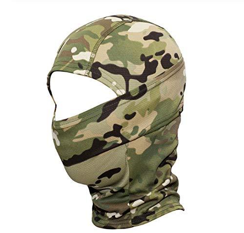 Pasamontañas Táctico Militar Cap Camuflaje Mascarilla Facial Motocicleta Ciclismo Ejército Biker Head Shield Sombrero F-