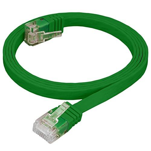 HB DIGITAL Cable de red LAN Slim plano conector RJ45 Cat 6 cobre profesional U/UTP libre de halógenos de RoHS compliant Cat. 6 CAT6 RJ45 Puerto de red Ethernet patchcable