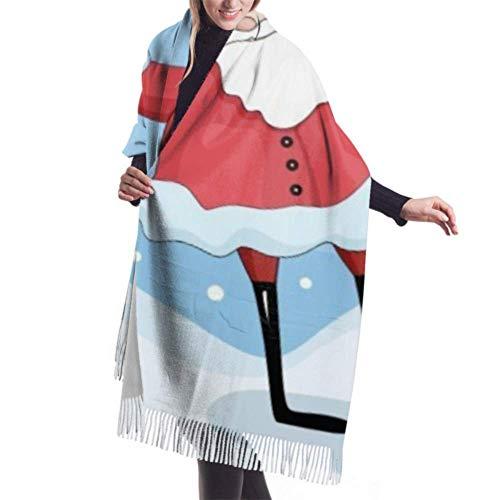 Lawenp 27 'x77' Pañuelo para la cabeza de los hombres Papá Noel...