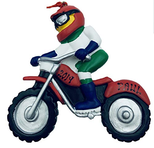 Personalized Dirt Bike Motorcycle Christmas Ornament 2020