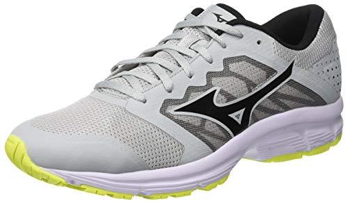 Mizuno Ezrun LX, Zapatillas de Running para Hombre, Azul (High/Rise/Black/Safetyyellow 11), 40.5 EU