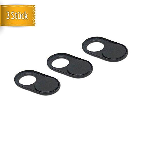 YourMate 3X Schwarze Webcam Covers Ultra-flach & selbstklebend | Kamera-Abdeckung schützt vor Spionage & Privatsphäre - Kamera Sticker geeignet für Computer, Laptop, Smartphone, Tablet UVM