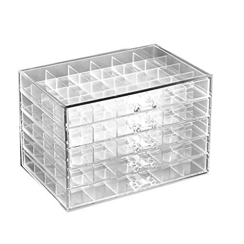 Pandiki 120 Grids Nail Decoration Organisation Box Nail Art Vide Transparent Porte d'affichage Case Outil de beauté